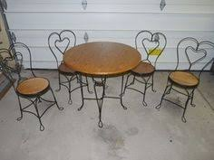 ice cream parlor table and chairs set 4 vintage brass ice cream parlor chairs interior design