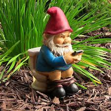 garden gnome statue figurine sculpture outdoor lawn
