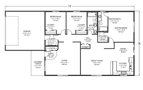 decor ranch house plans with basement rambler floor incredible