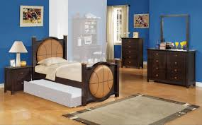 bedroom twin size brown modern stained solid wood sleigh bed