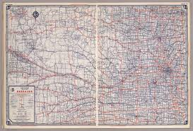 Time Zone Map Nebraska by Rand Mcnally Road Map Nebraska David Rumsey Historical Map