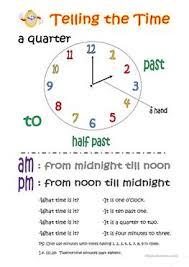 91 free esl clock worksheets