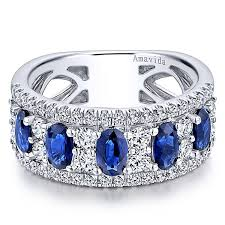 color sapphire rings images 18k white gold lusso color wide band ladies 39 ring lr50991w84sa jpg