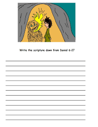 printable coloring pages daniel and the lions den