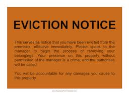 eviction notice letters