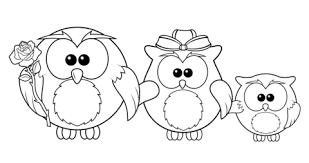 owl family coloring free printable coloring pages