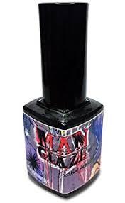 amazon com matte black nail polish matte is murder lefty