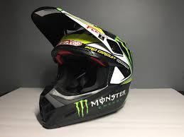 monster energy motocross helmet for sale brand new with tags bell moto 9 carbon flex size medium for sale
