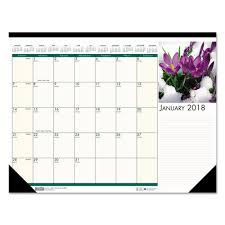 desk pad calendar 2018 superwarehouse recycled floral photographic monthly desk pad