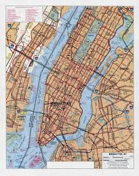 State Map Of New York by Large Detailed Road Map Of Manhattan New York City Manhattan