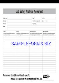 job safety analysis template 3 pdf free u2014 1 pages