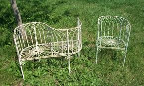 wrought iron small woven tree bench outdoor seating