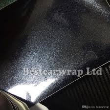 rainbow glitter car pearl glossy black vinyl wrap for car wrapping covering metallic