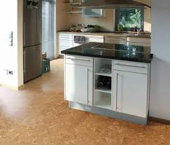 modern kitchen floor modern kitchen using cork flooring and modern cabinets cork