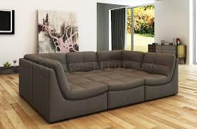Modular Sectional Sofa Modular Sectional Sofa 6pc Set In Grey Leather By J U0026m