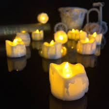 flicker yellow flameless candles battery led electric candles