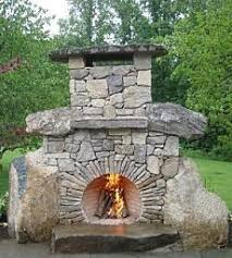 outdoor stone fireplace outdoor stone fireplace circular firebox opening voussoir