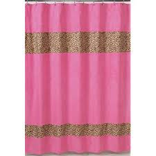 Pink And Orange Shower Curtain Amazon Com Cheetah Pink And Brown Kids Bathroom Fabric Bath
