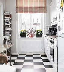 dining room kitchen with black and white vinyl flooring