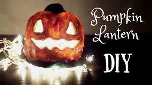 diy pumpkin lantern with homemade clay easy halloween craft idea