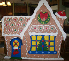 gingerbread house large yard decoration gingerbread