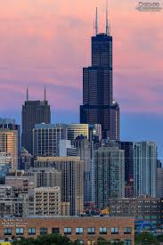 willis tower sunset chicago illinois milwaukee wisconsin