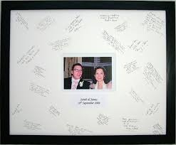 wedding signing frame personalised wedding signature frame black with white mount