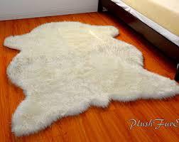 polar bear rug etsy
