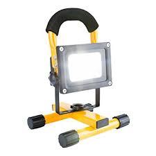 10w rechargeable flood light nestling 10w led yellow rechargeable portable flood work light