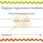 employee award certificate template award certification template