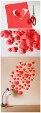 make a wall of paper hearts template for download included