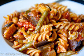 fall vegetable pasta with zucchini eggplant u0026 green beans no