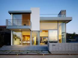 contemporary 2 story house design with deck part of home design