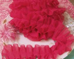 ruffled ribbon crepe paper ruffles vintage almond pastel easter basket