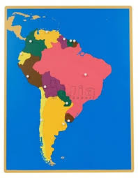 south america map buy montessori puzzle map of south america montessori materials buy