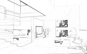 perfect simple interior design drawings sketches m to decorating