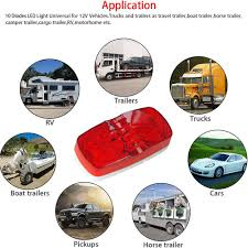 led clearance lights motorhomes shop for rv truck cab led rear side marker lights red clearance 10