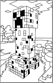 48 minecraft coloring pictures images