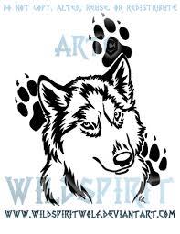 husky pawprint tribal design by wildspiritwolf on deviantart