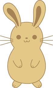 cute brown bunny rabbit free clip art