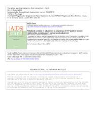 Cristina Autor En Ecortina Relational Contexts In Adjustment To Pregnancy Of Hiv Positive