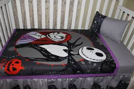 crib bedding set skellington nightmare before