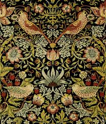 William Morris Wallpaper by William Morris Strawberry Thief Intense Small Giftwrap