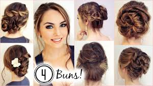 How To Formal Hairstyles by No Heat Hairstyles 4 Unique Messy Buns Jackie Wyers Youtube
