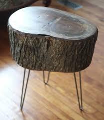 Log Side Table Tree Log Coffee Table Stump Side Table Wood Log End Table