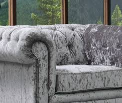 new silver grey luxury crushed velvet chesterfield 3 1 1 seater