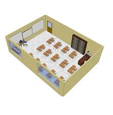 Floor Plan Of Classroom by Classroom Layout Furniture Free 3d Cad Models