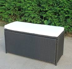Cushion Ikea Furniture Interesting Black Wicker Outdoor Storage Bench With