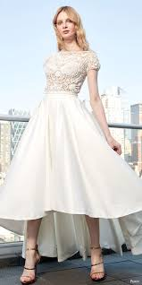 high low wedding dress with sleeves 30 beautiful wedding dresses with cap sleeves weddingomania