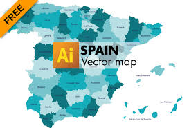 vector map free vector map of spain graphic flash sources